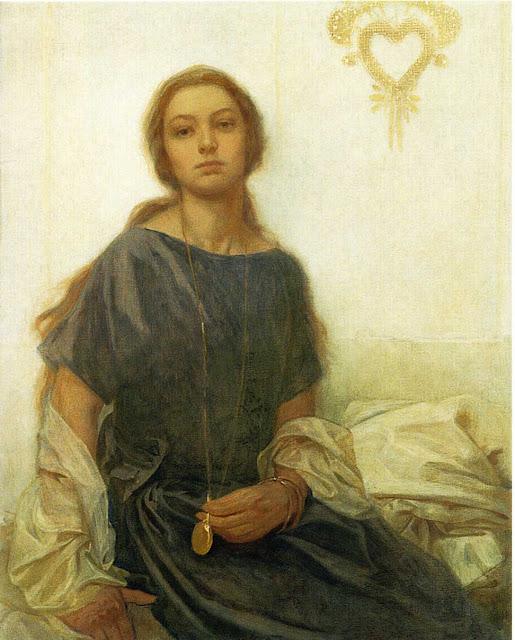Альфонс Муха - Портрет Ярославы. 1930