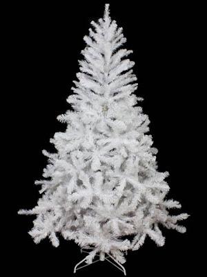 Un albero di Natale sintetico bianco