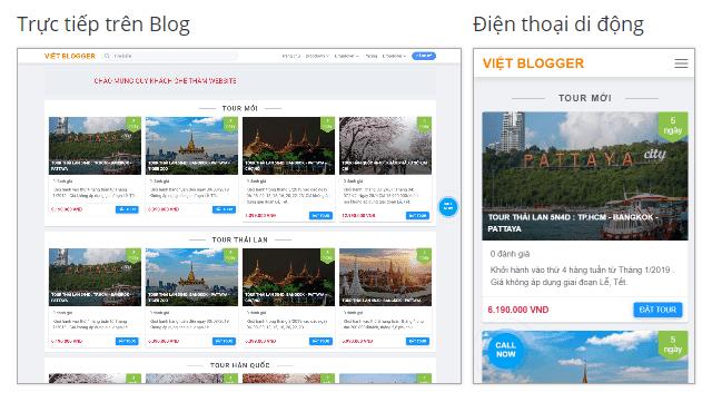 Template Travel Tour Blogspot Bán Vé Và Dịch Vụ Du Lịch