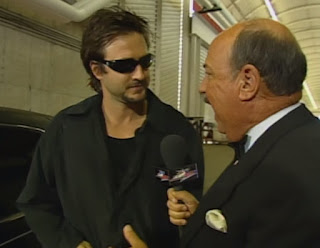 WCW Slamboree 2000 - Mean Gene Okerlund interviews David Arquette