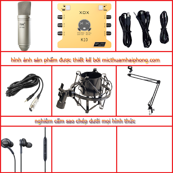 Bộ livestream XOX K10 Micro thu âm ISK AT100