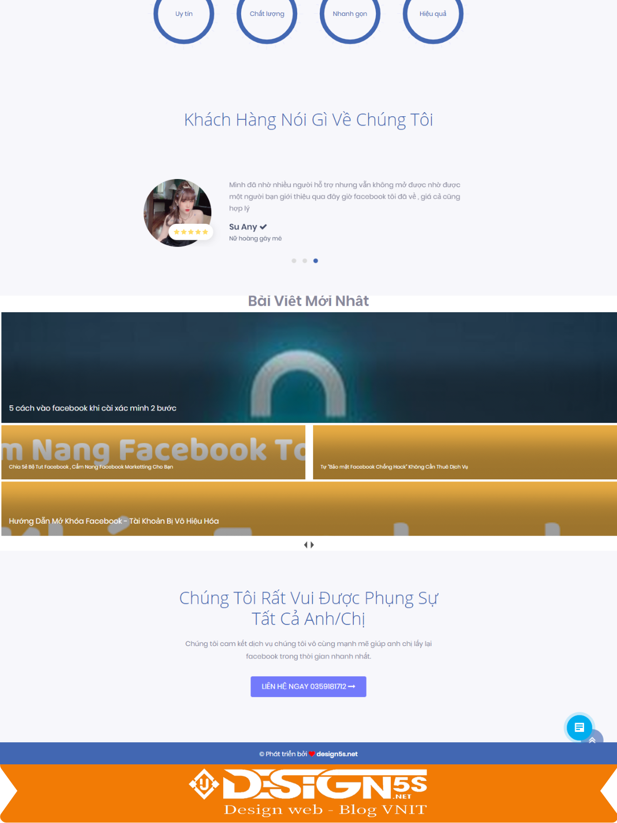 Free Template Blogger Landing Page Dịch Vụ Facebook - Ảnh 2