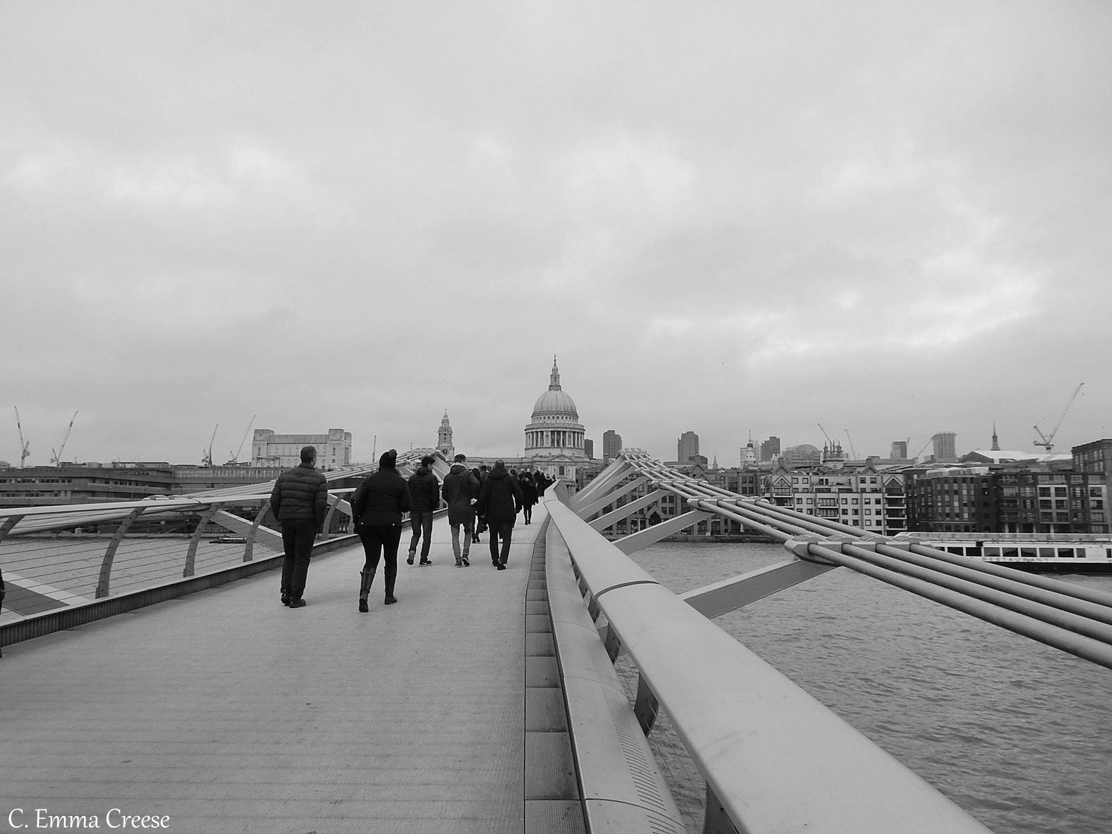 Millenium Bridge overlooking St Pauls London Adventures of a London Kiwi