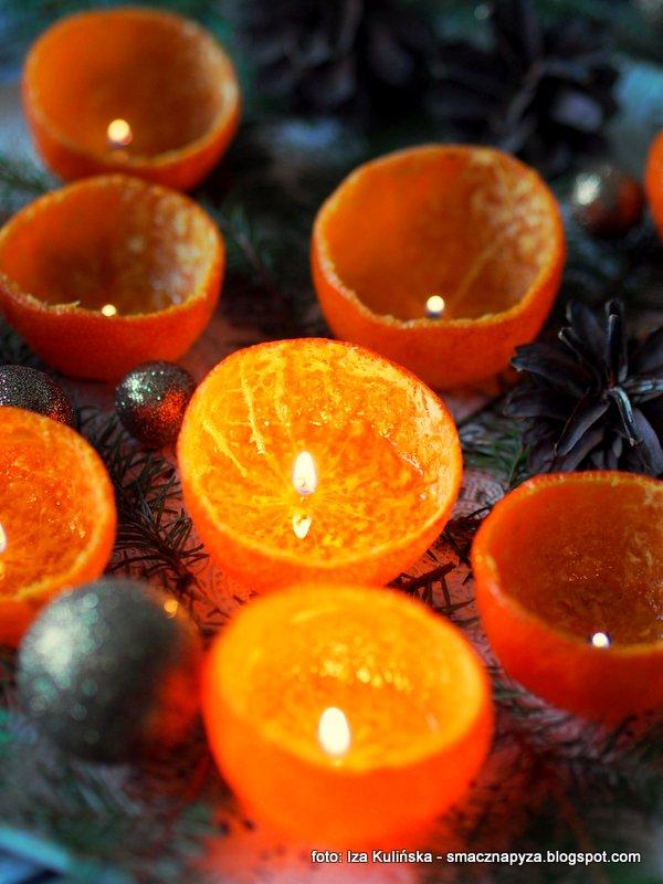 lampki ze skorek, swieczki z mandarynek, mandarynki, moje diy, swiateczne ozdoby, swiatelka