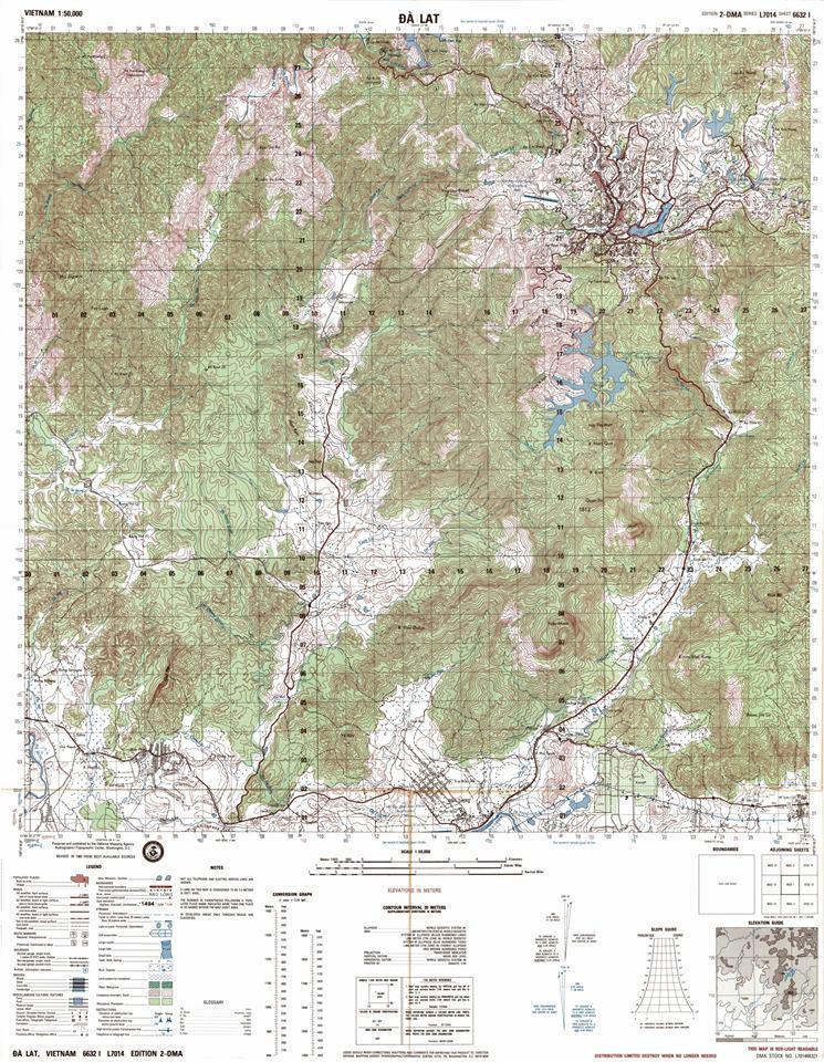 DALATARCHI: Vietnam Topographic Maps 1:50,000,1:25,000. on