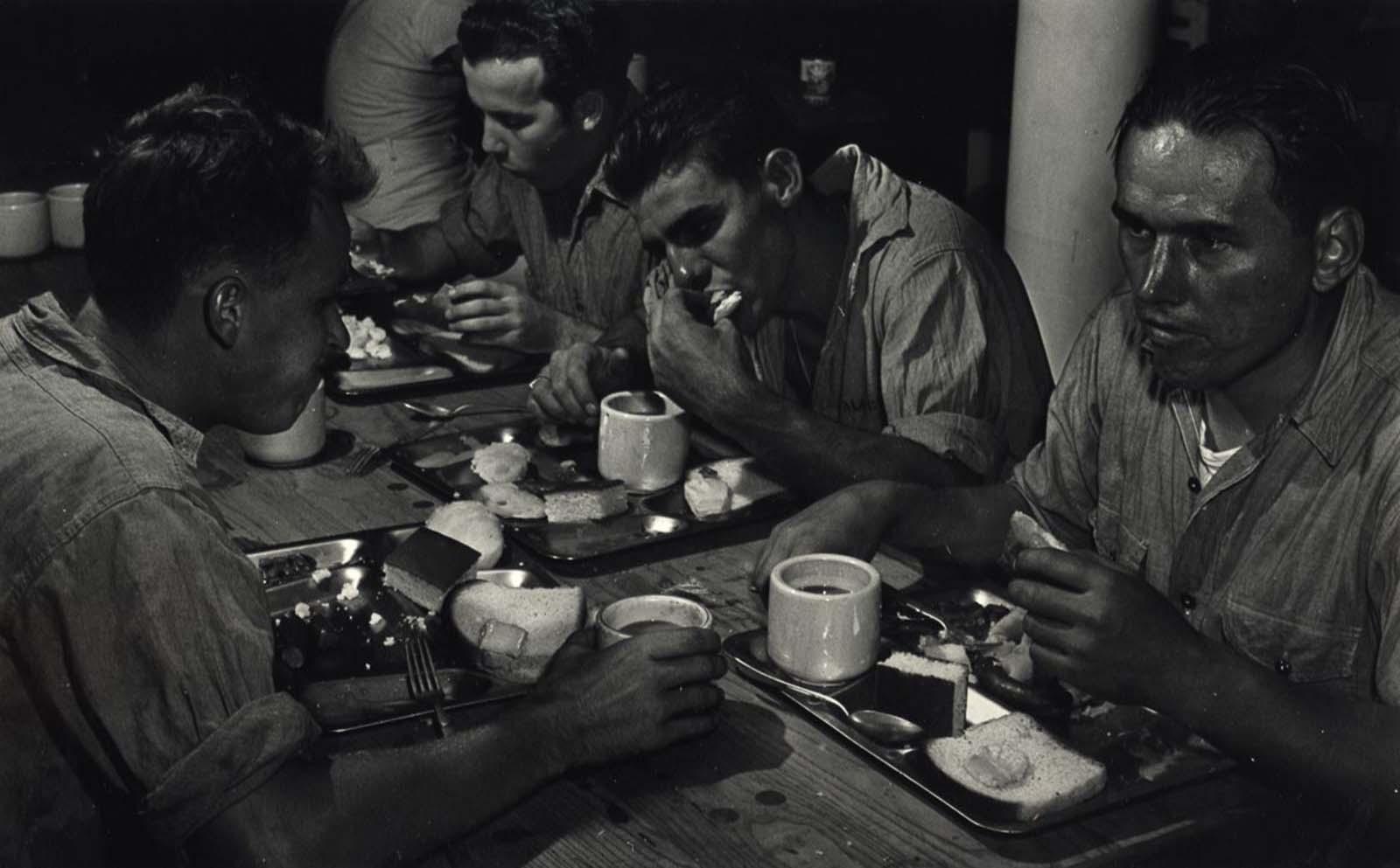Crew Eating, c. 1943.