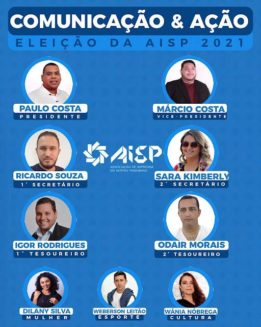Paulo Costa é eleito presidente da Associação de Imprensa do Sertão Paraibano