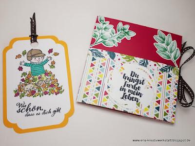 Besondere Faltkarte im herbstlich, bunten Design vom Stimdu Stampin' Up! www.eris-kreativwerkstatt.blogspot.de