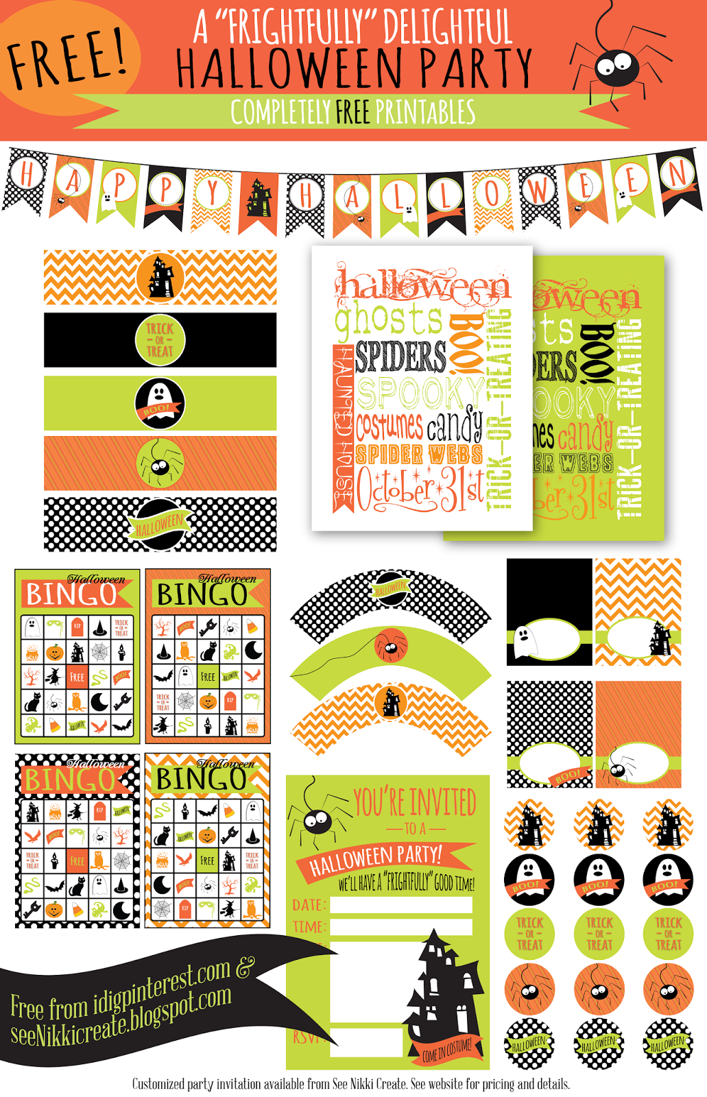 Free Printables A Frightfully Delightful Halloween