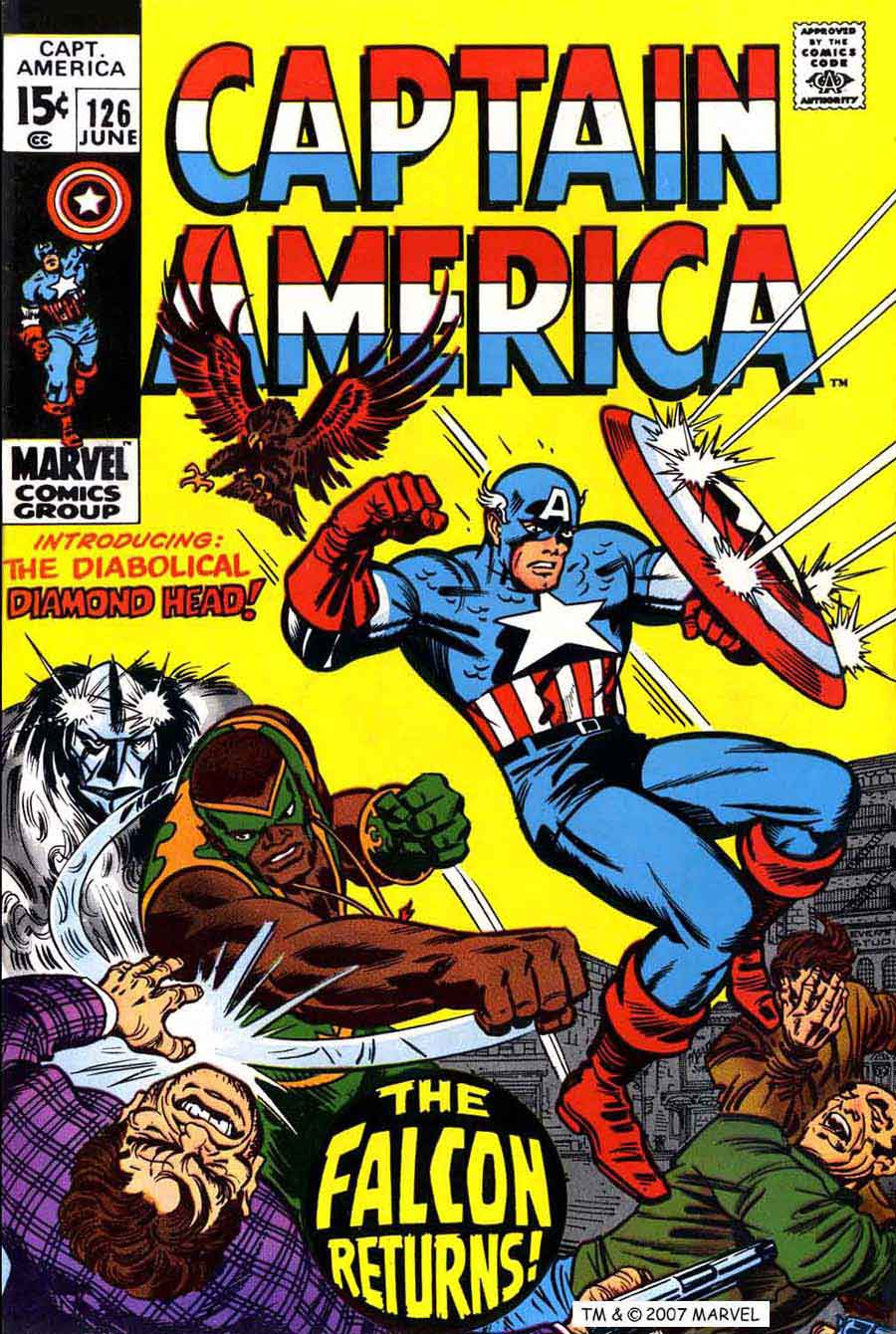 Captain America v1 #126 marvel comic book cover art by Jack Kirby
