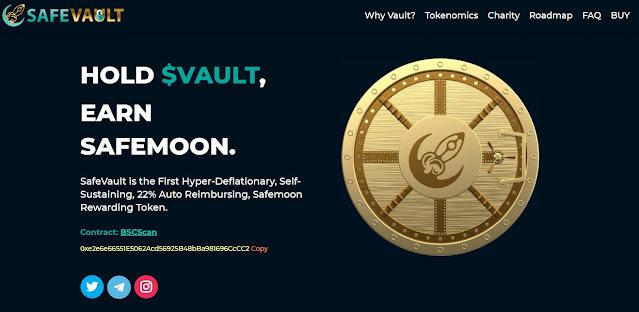Screenshot Website  SafeVault (VAULT)