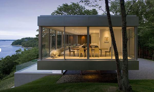 rumah kaca transparan modern menakjubkan rancangan