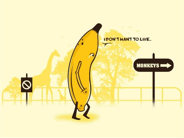 Banana: I don't want to live ➔ Monkeys