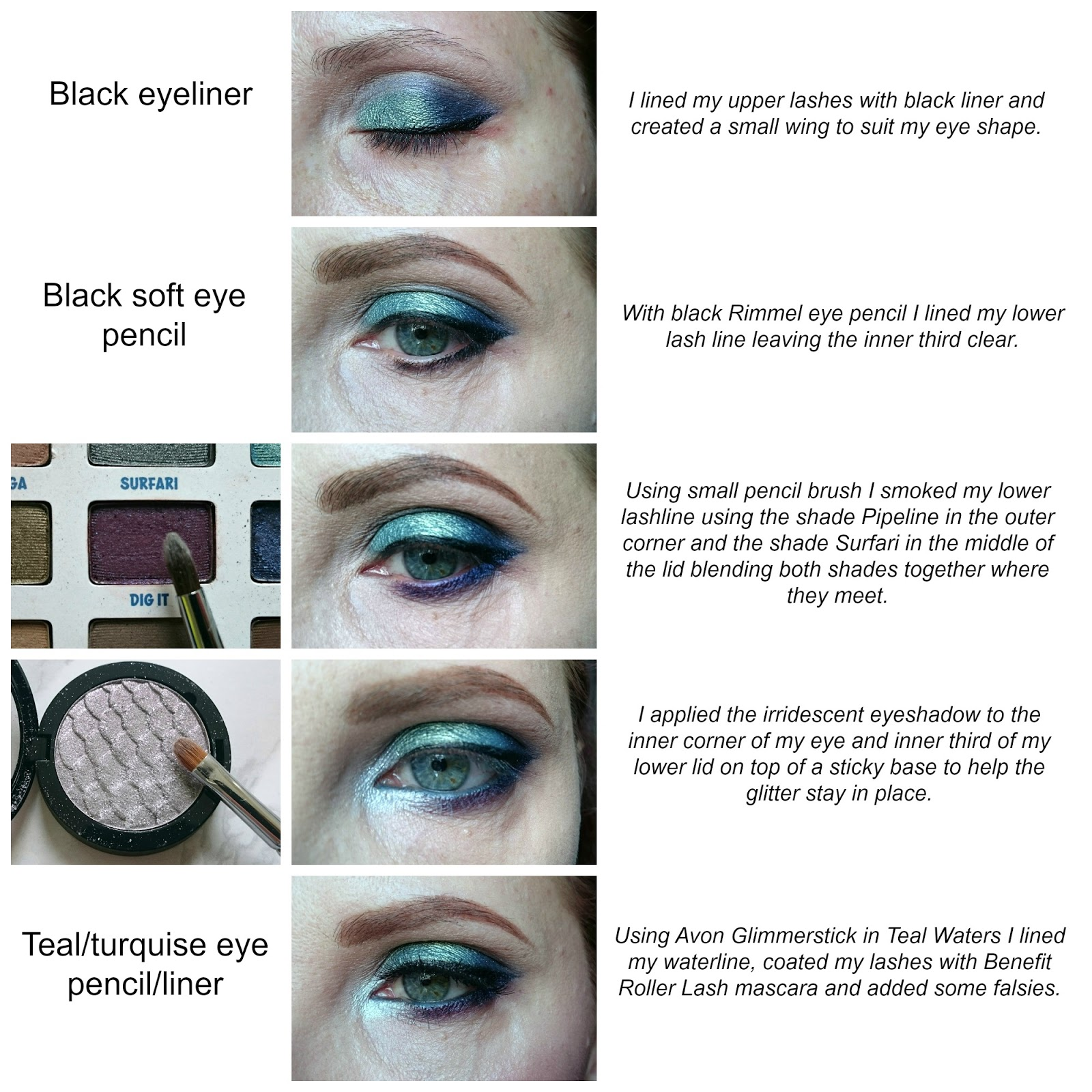 Mermaid eye makeup tutorial