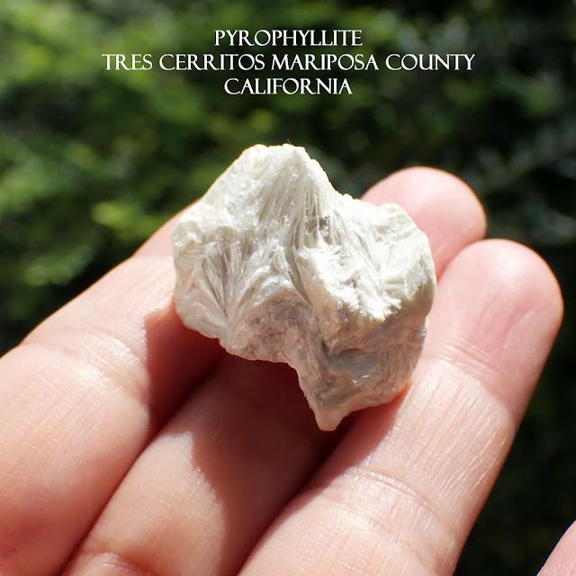 PYROPHYLLITE Tres Cerritos Mariposa County California