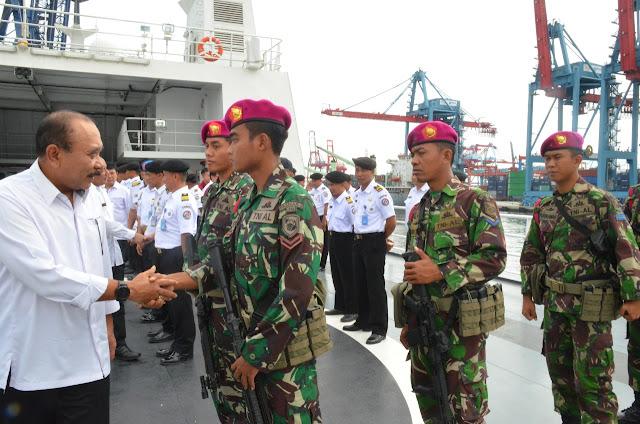Kepala Bakamla RI Lepas Pelayaran Perdana KN Tanjung Datu