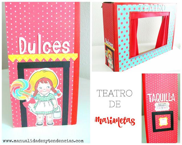 teatro de titeres de carton diy