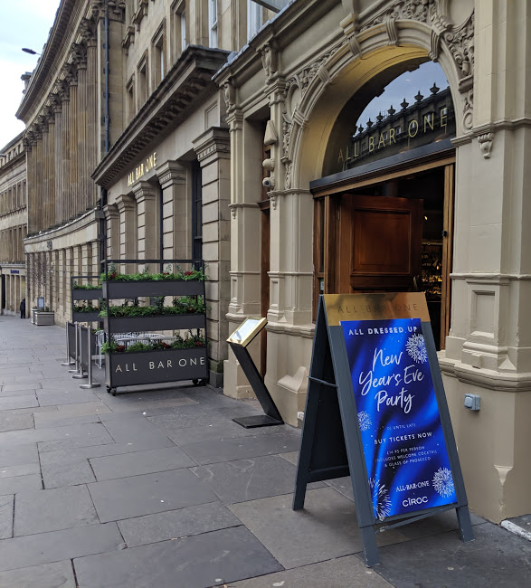 All Bar One Newcastle Brunch Review - Grey Street Entrance