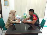 Babinsa Kratonan  Melaksanakan Komsos Dengan Pegawai UPTD Puskesmas