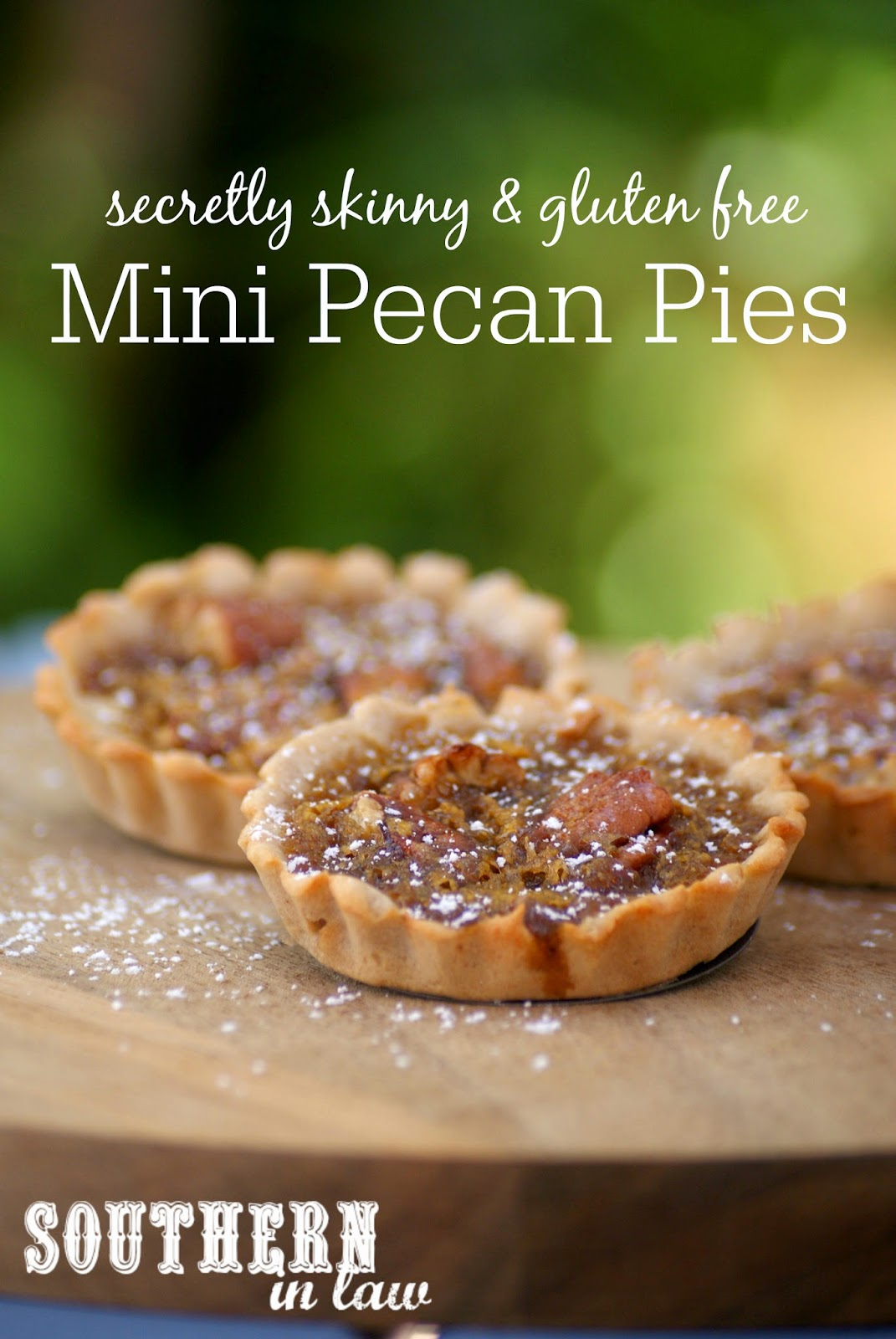 Healthier Mini Pecan Pies Recipe - Low fat, gluten free, lower sugar, easy to make