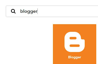 Select the Blogger option
