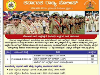 Karnataka State Police Department Sub Inspector Civil SI(Male Female) Recruitment 2019 PSI Govt Jobs Online, Physical Tests