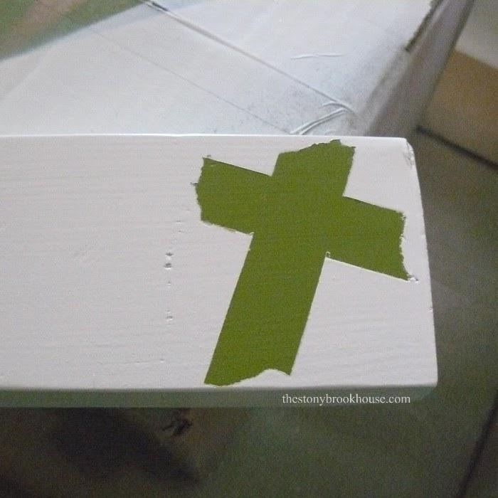 Peel cross tape off
