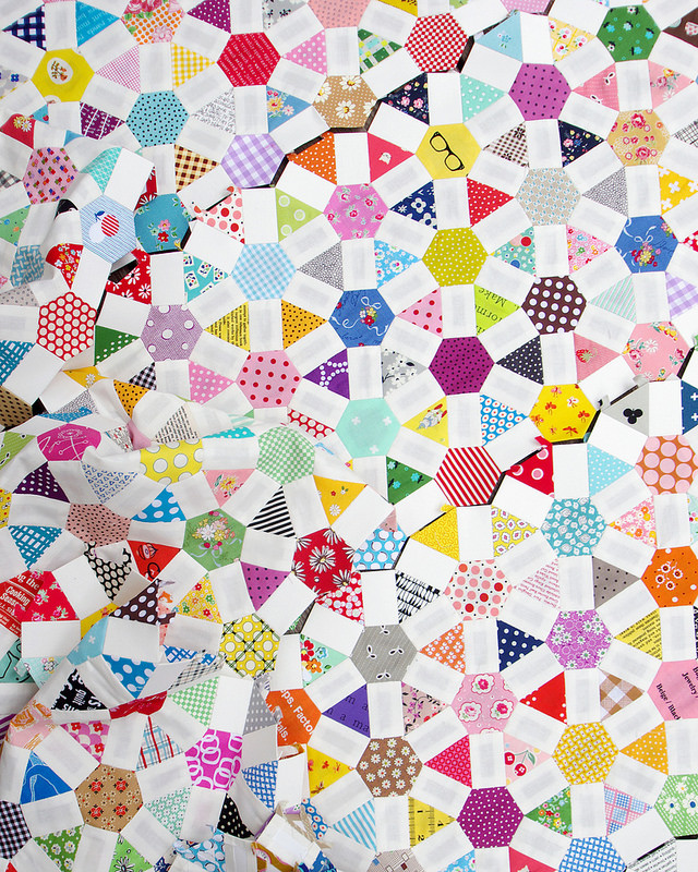 Work in Progress - English paper pieced quilt
