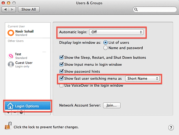 Troubleshoot restriction in a user account deletion from Mac