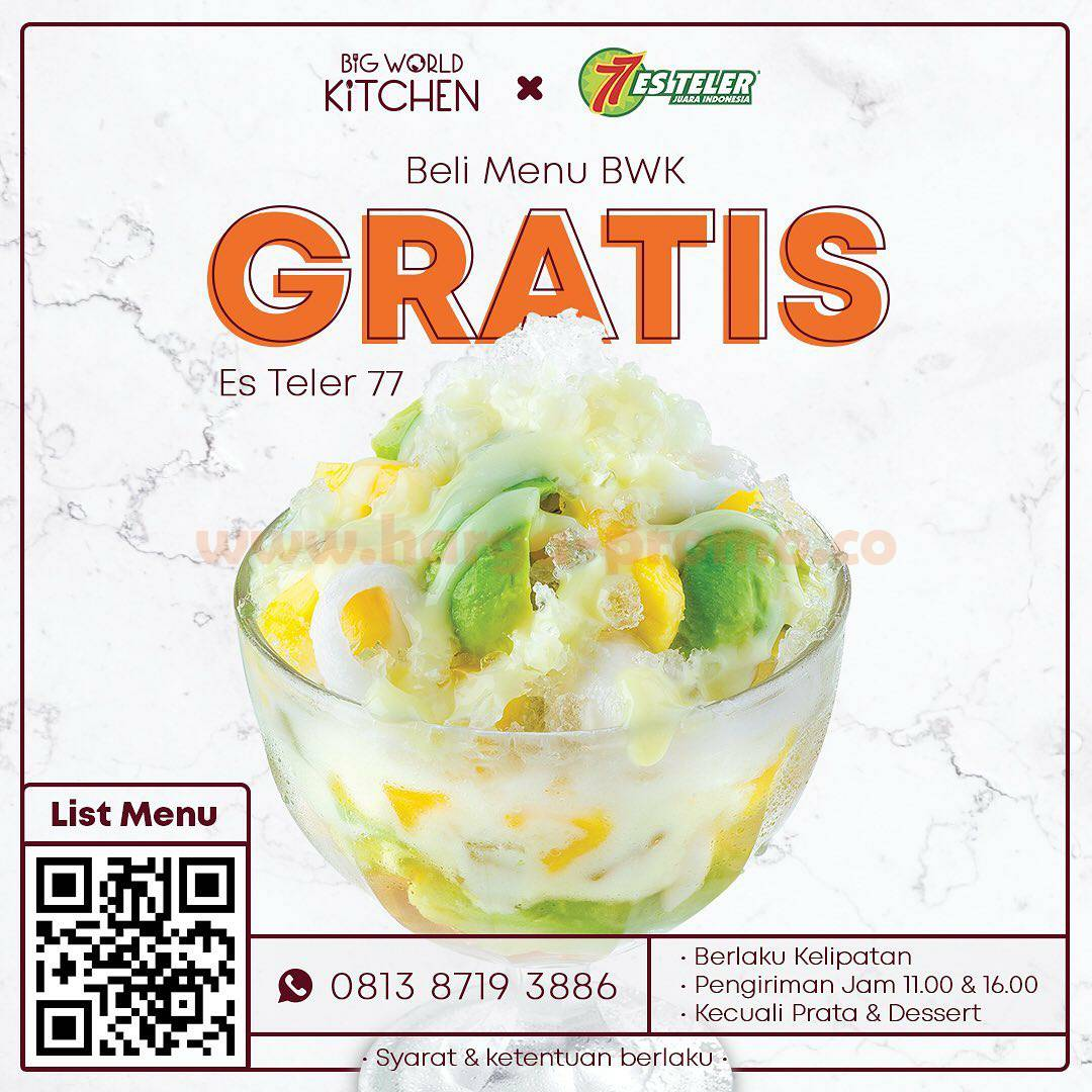 Es Teler 77 X Big World Kitchen - Beli Menu BWK Gratis Es Teler 77*