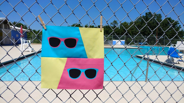Fun in the Sun retro sunglasses quilt block