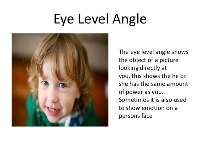 Eye level camera shot