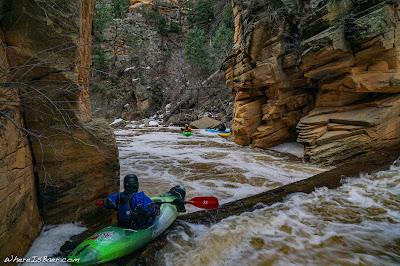 pump house wash kayak log whitewater, red rocks canyon arizona sedona flagstaff, WhereIsBaer.com Chris Baer