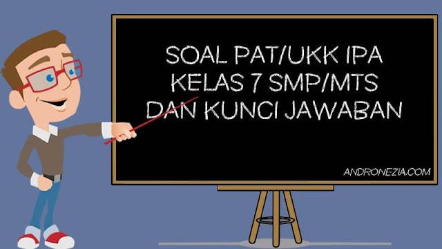 Soal PAT/UKK IPA Kelas 7 Tahun 2021