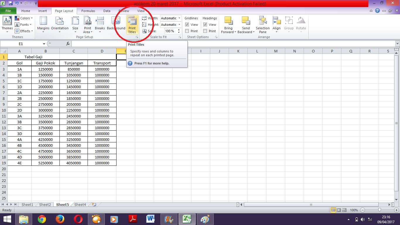 Cara Mengatur Print Area Dalam Ms Excel