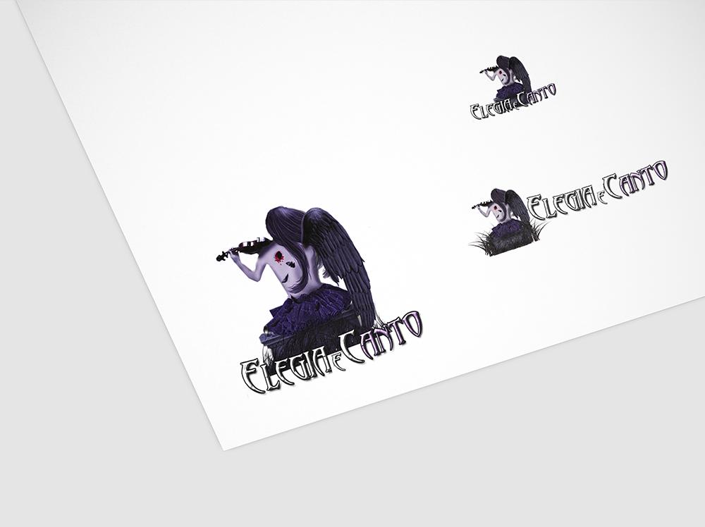Logotipo e variações site elegia e canto