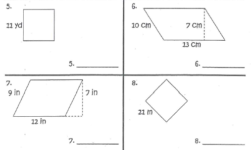 Printables Area Of Parallelogram Worksheet area of irregular rectangles worksheet abitlikethis and perimeter squares parallelograms triangles