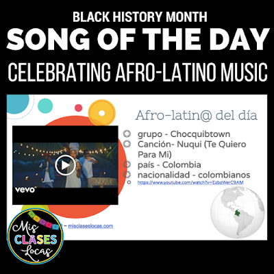 Afro-latino del día - Song of the day - Mis Clases Locas