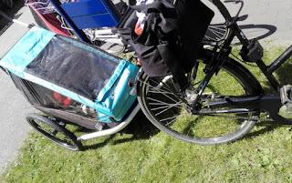 Fahrrad mit Croozer