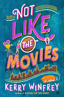 Book cover for Not Like the Movies: teal with pink writing and the New York skyline along the bottom above the author's name.