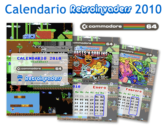 Calendario Retroinvaders 2010: Commodore 64