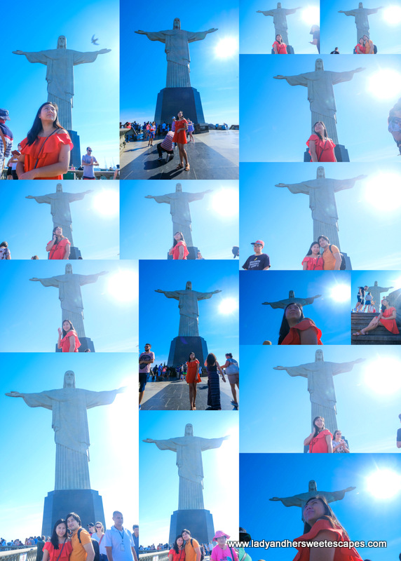 tourist photos at Christ The Redeemer in Rio de Janeiro
