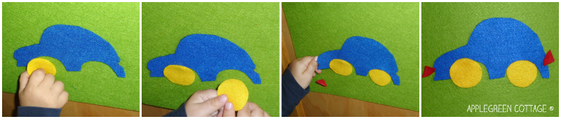 Felt car - DIY kids activities
