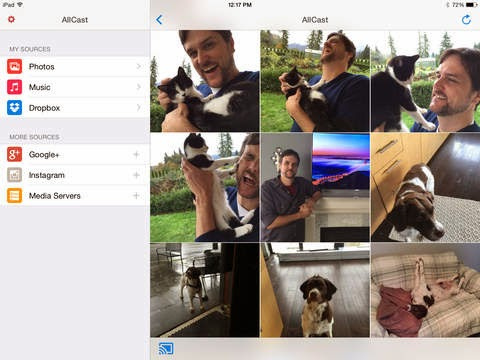 Media streaming app AllCast comes to iPhone and iPad: Lets you send photos, music, and videos on your iPhone, iPad to your TV