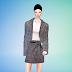 mini skirt set_미니 스커트 세트_여성 의류