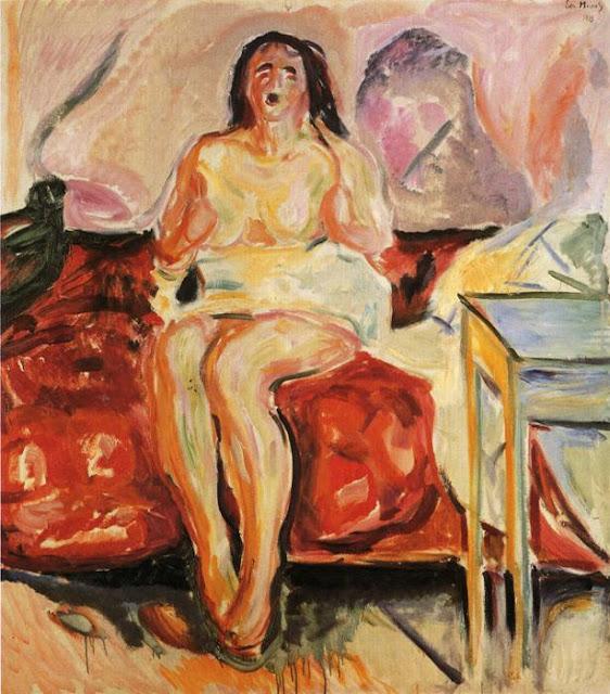 Эдвард Мунк - Девушка зевает. 1913
