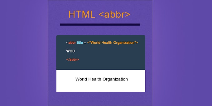 what is abbr tag in html
