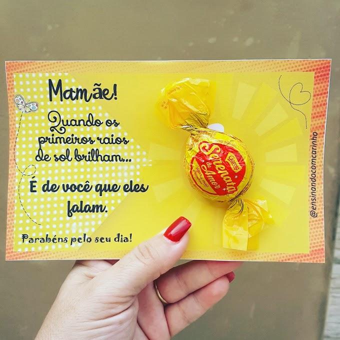 Cartão serenata de amor para o dia das mães