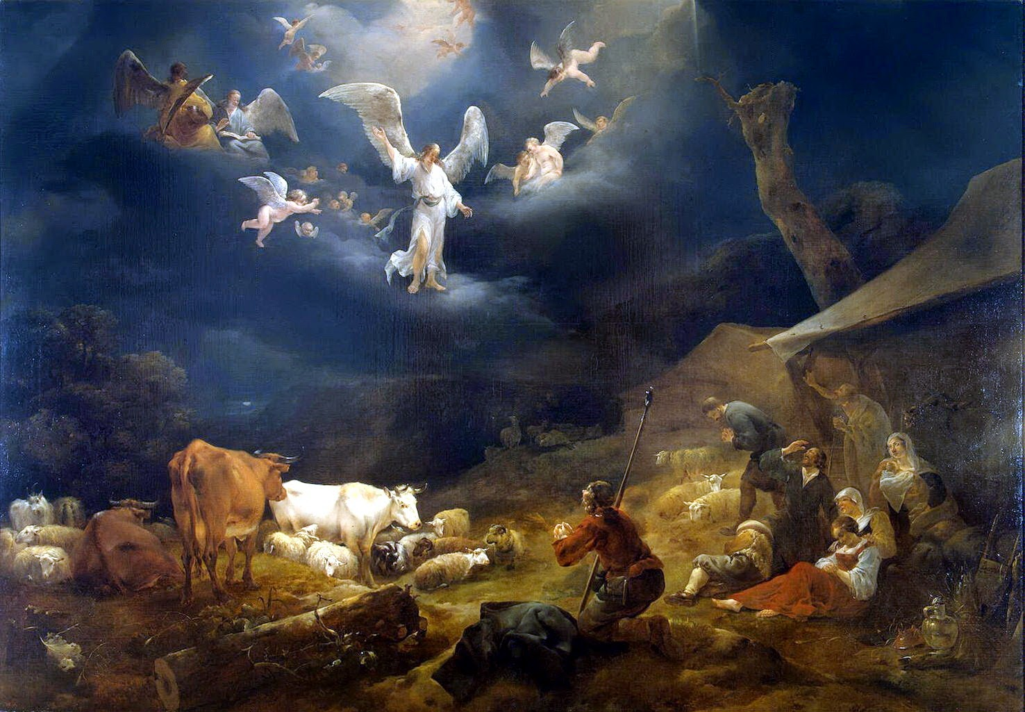 angels sing to shepherds - photo #15