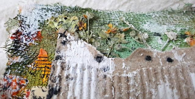 мини-альбом, сухоцветы, ботаника, микс медиа